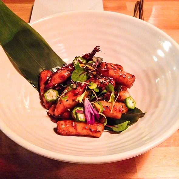 Spicy Calamari And Rice Cake @ Tong Sake House