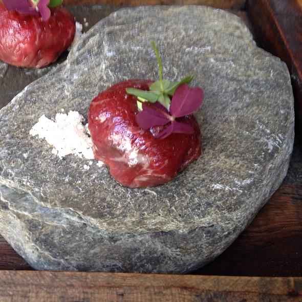 Amuse Of Beef Carpaccio @ Restaurant David Toutain