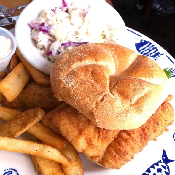 Fried Flounder Sandwich - Lynnhaven Fish House, Virginia Beach, VA