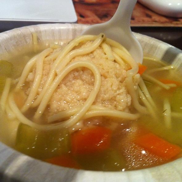 Matzo Ball soup @ Eisenberg Sandwich Shop