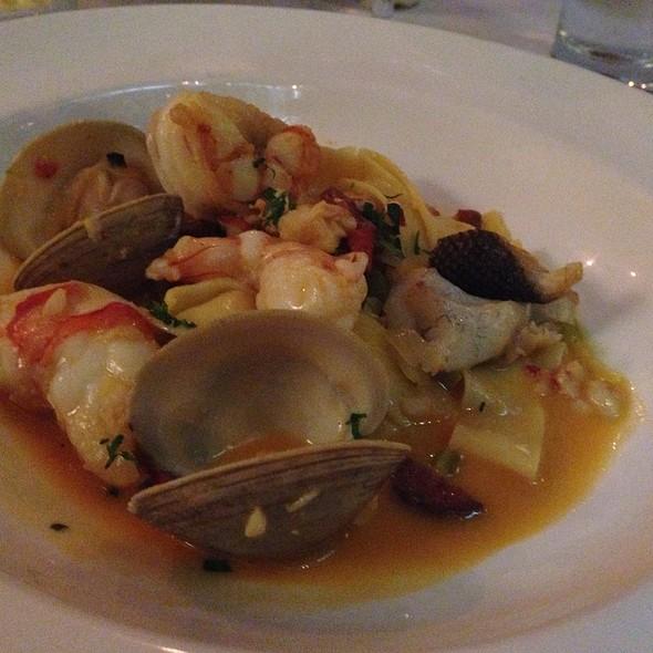 Saffron Pasta With Seafood - Lineage, Brookline, MA