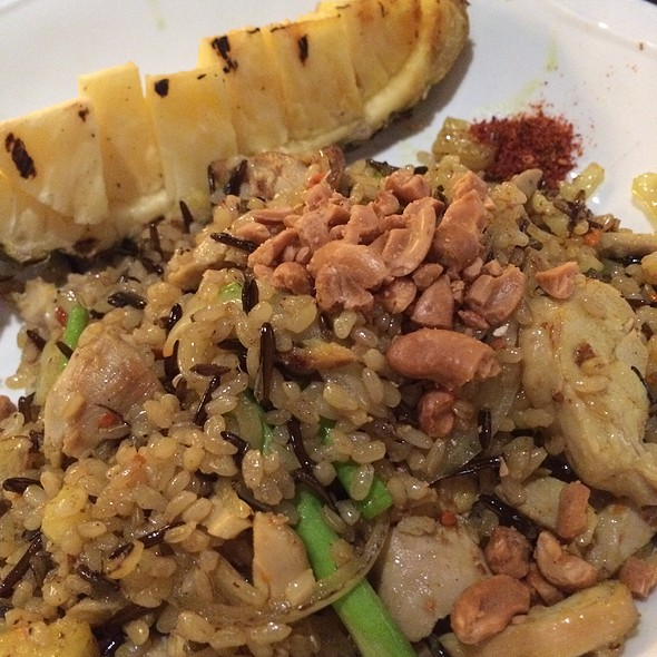 Thai organic fried rice with fried chicken @ Thai Basil