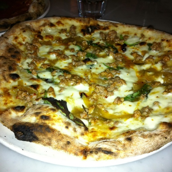 House-Made Sausage, Caramelized Onion, and Mozzarella pizza @ Pizzeria Libretto