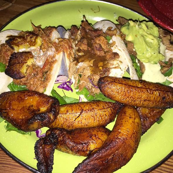 Duck Duck Goose, Lamb Vindaloo, & Calypso Beef Caribbean Tacos With Maduros