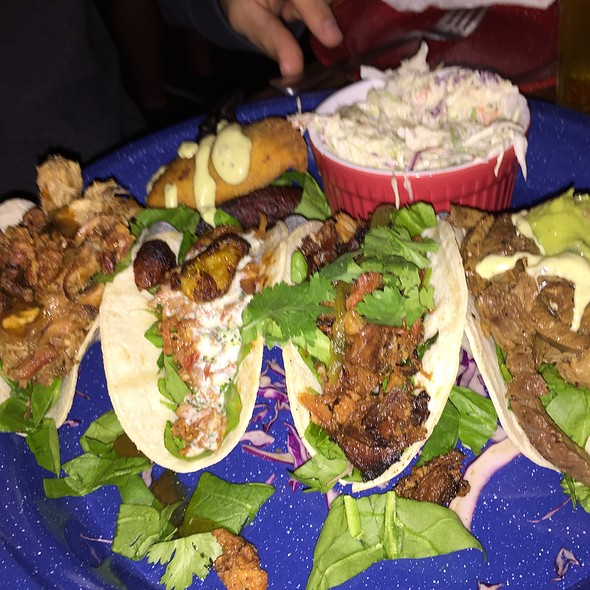 Duck Duck Goose, Lamb Vindaloo, Rib, & Calypso Beef Caribbean Tacos