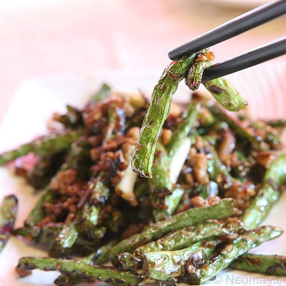 Spicy Minced Pork And String Beans Stirfry @ Crab General Hee Kee