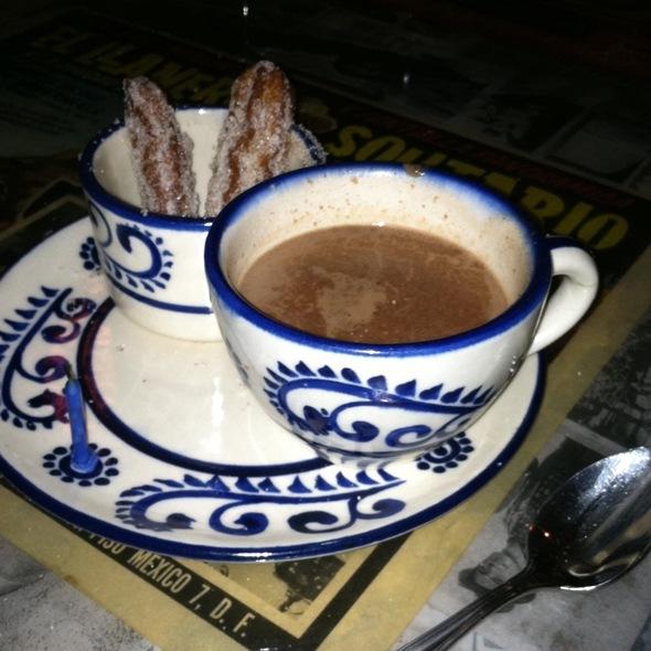 Churros con Chocolate @ Xochitl