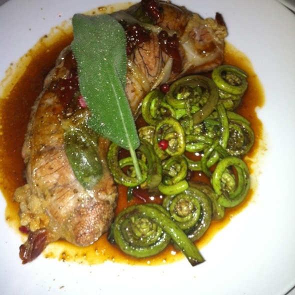 Shad roe with fiddleheads @ Erbaluce
