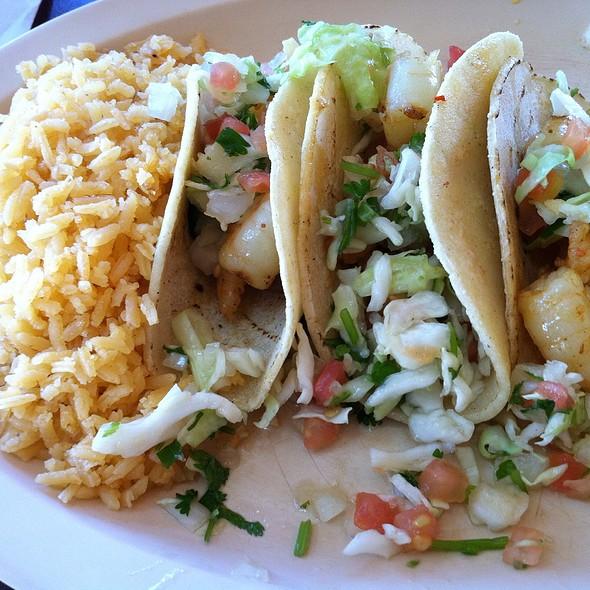 Shrimp Taco Platter @ Tia Cori's Tacos