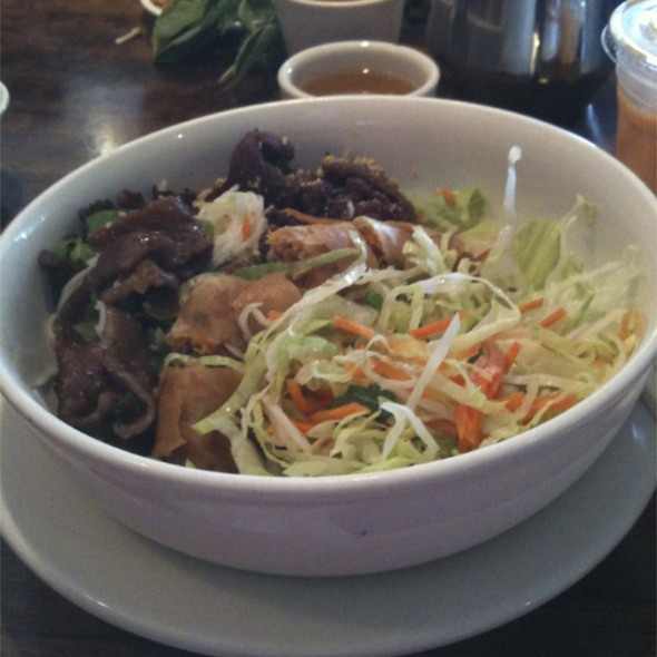 Vermicelli with BBQ Pork and Egg Rollls @ Pho Boston