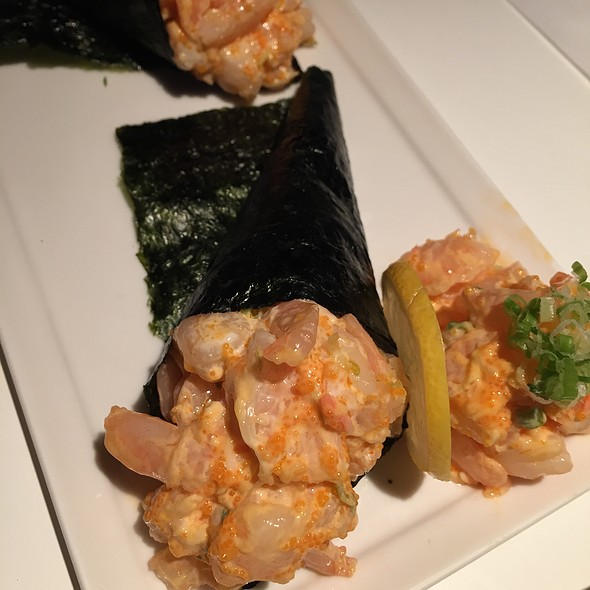 spicy shrimp hand roll @ Sushi House of Taka