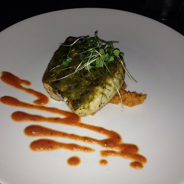Swordfish Sun-Dried Tomato Polenta And Sorrel Vinaigrette - Elements Café, Haddon Heights, NJ