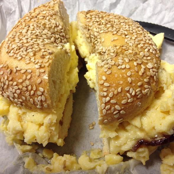 Bacon, Egg & Cheese In A Bagel - Zingerman's Roadhouse, Ann Arbor, MI