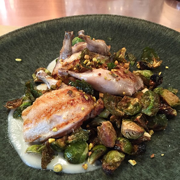 Wolf Ranch Quail With Brussel Sprouts& Pear