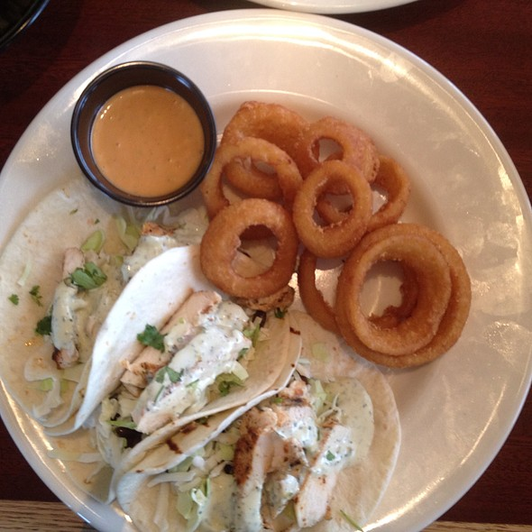 Chicken Tacos W/Side Of Onion Rings @ Winger's An American Diner