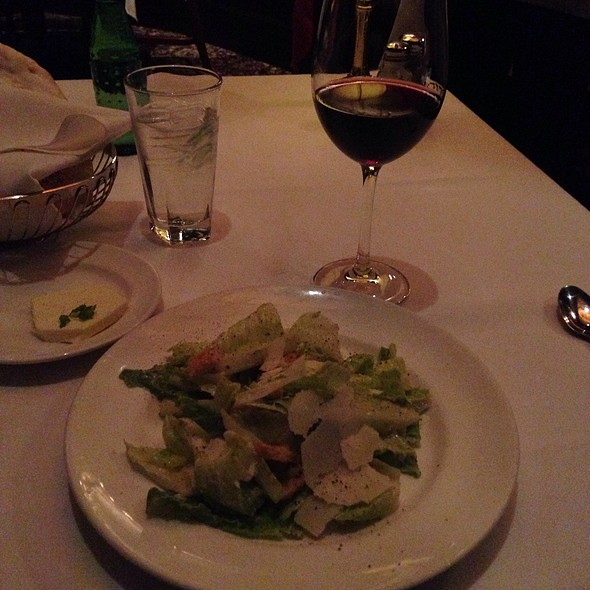 Ceasar Salad And A Glasss Of Zinfandel Wine - The Capital Grille - Minneapolis, Minneapolis, MN