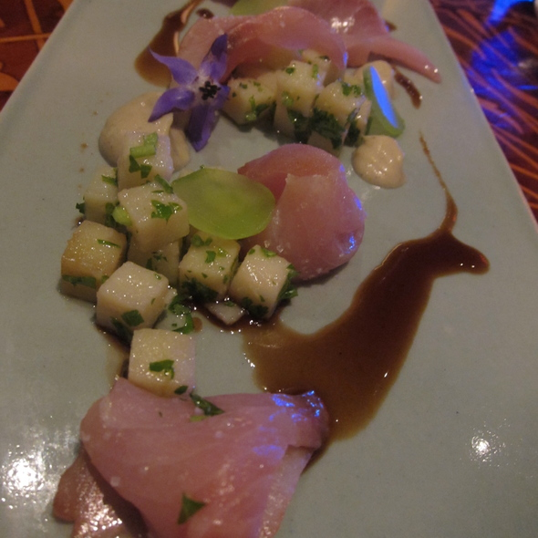 Yellowtail Carpaccio @ Aziza