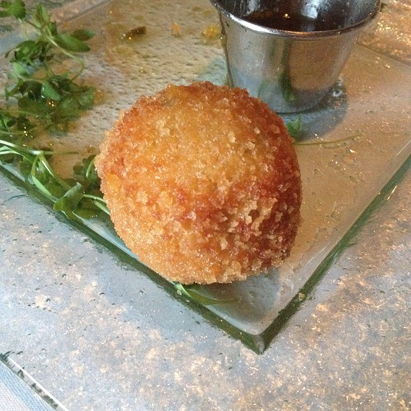 Pimento Cheese Fritter W/ Honey @ Ray's On The River