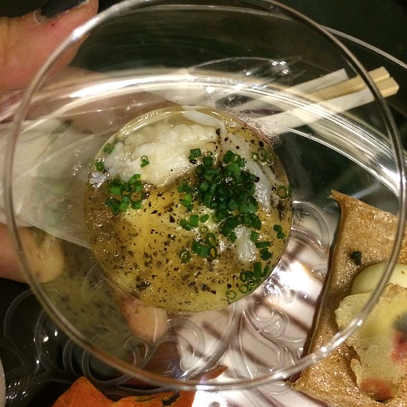 Chawanmushi With Golden Crab, Black Truffle Ankake - brushstroke, New York, NY