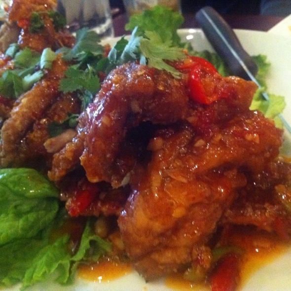 Fried Fish Topped With Chili Sauce @ Ayada Thai Restaurant