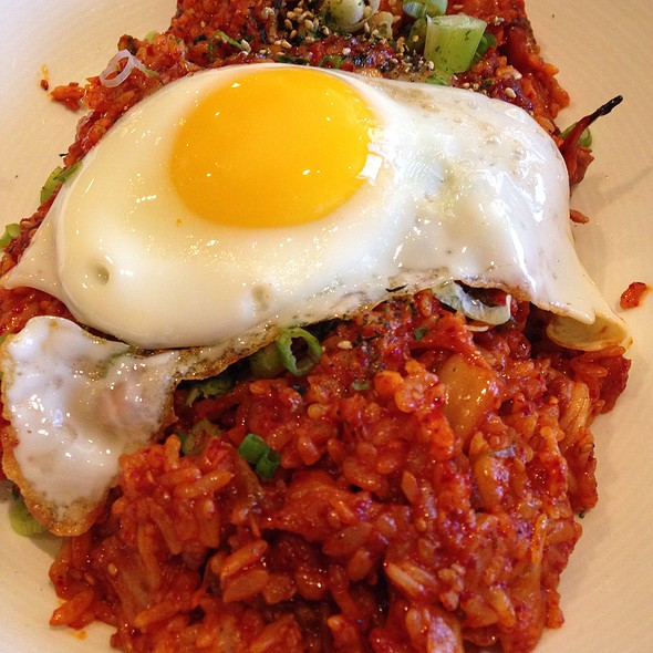 Kimchi Fried Rice With Fried Eggs @ Bowl'd Korean Rice Bar