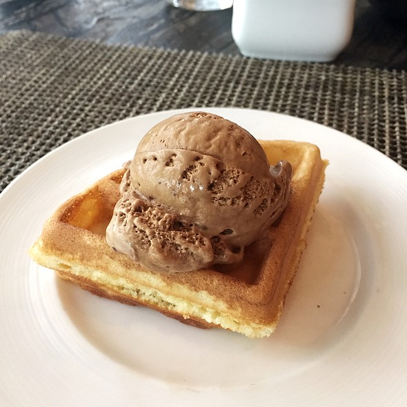Espresso Ice Cream On Waffle @ Three on Canton