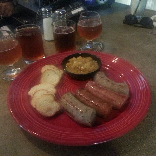 Beer And Sausage Platter @ Red's Porch