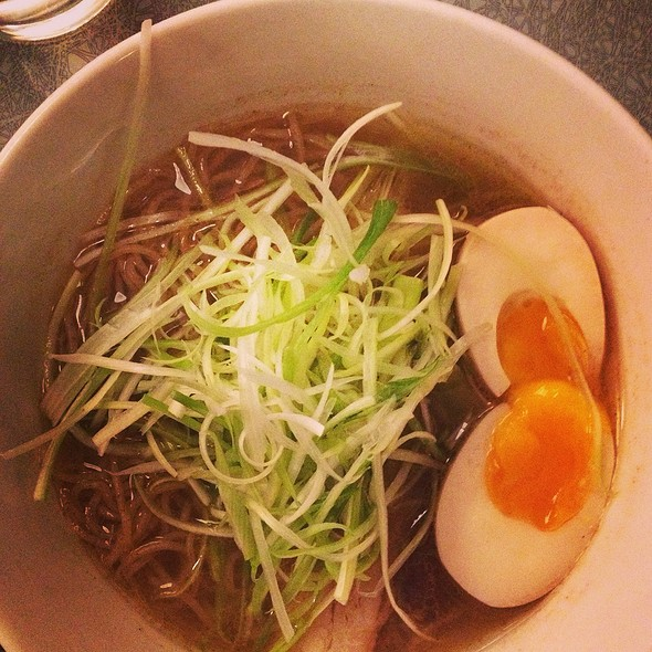 Tokyo Shio Ramen (sea salts, dashi + chicken broth, rye noodle) @ Ivan Ramen