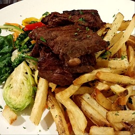 Angus Flank Steak And Fries