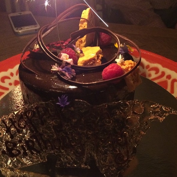 """The """"Mud Ness"""" - Chocolate Mud Cake With Layers Of Honeycomb And Chocolate Ganache, Topped With Feuilletine And A Chocolate Glaçage @ Papi Chulo"""
