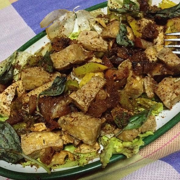 Fried Tofu With Pork & Chili Salt