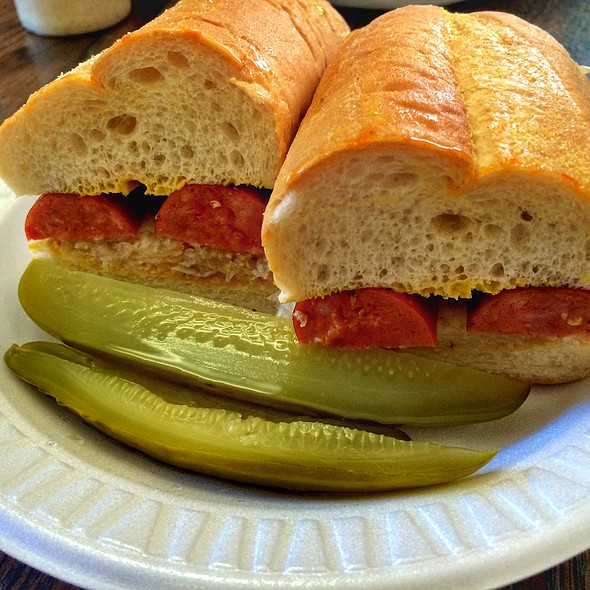 Spicy Polish Sausage Sandwich