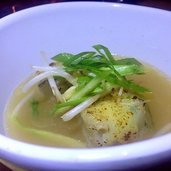 Brie And Crab Dumplings In Clam Broth @ Storytellers Dinner Experience