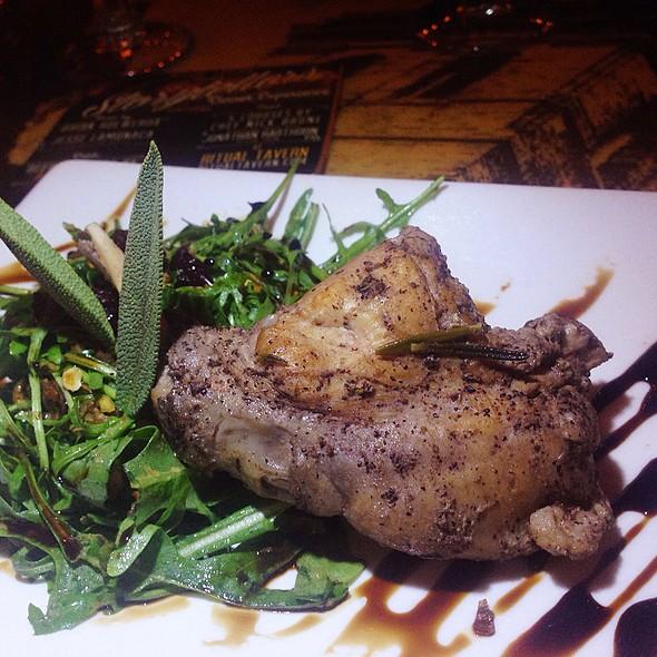 Braised Rabbit W/Wild Arugula And Mushroom Salad @ Storytellers Dinner Experience