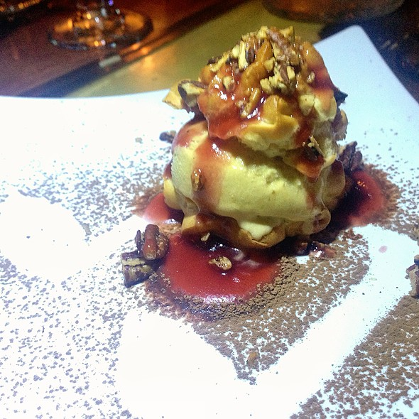 Profiteroles With Pumpkin Ice Cream @ Storytellers Dinner Experience