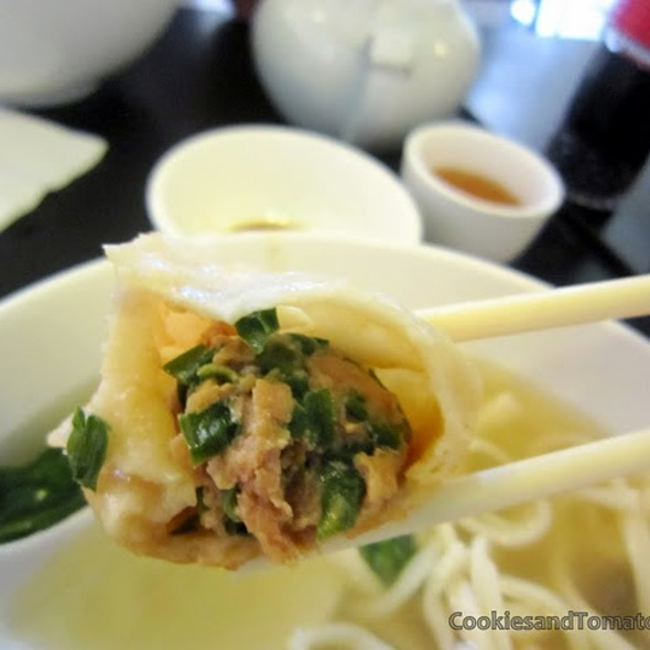 Pork & Chive Dumplings @ chinese noodle restaurant