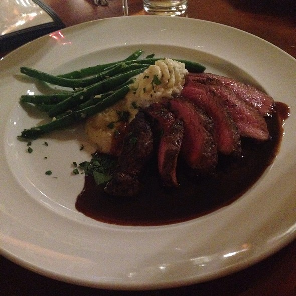 Buffalo Creek Beef Sirloin Steak Mashed Potatoes, Green Beans, Demi-Glace - Southern Inn Restaurant, Lexington, VA