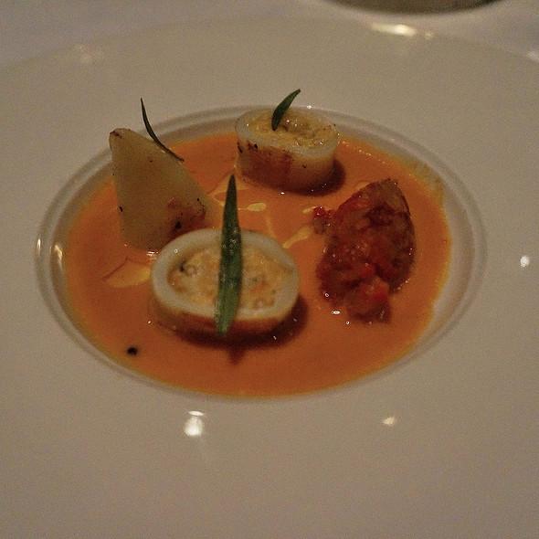 Squid, Tapioca, fennel, and shrimp bisque @ Canlis