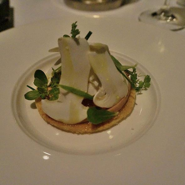 Matsutake mushrooms, Chicken liver mousse, Sauternes, and purslane @ Canlis