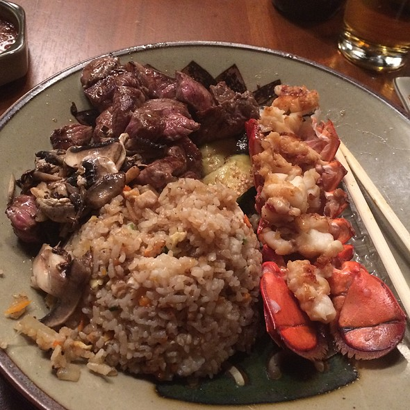 Deluxe Treat (Filet Mignon & Lobster) @ Benihana