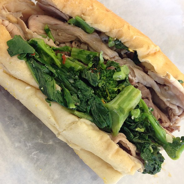Roast Pork Sandwich W/ Broccoli Rabe & Sharp Provolone