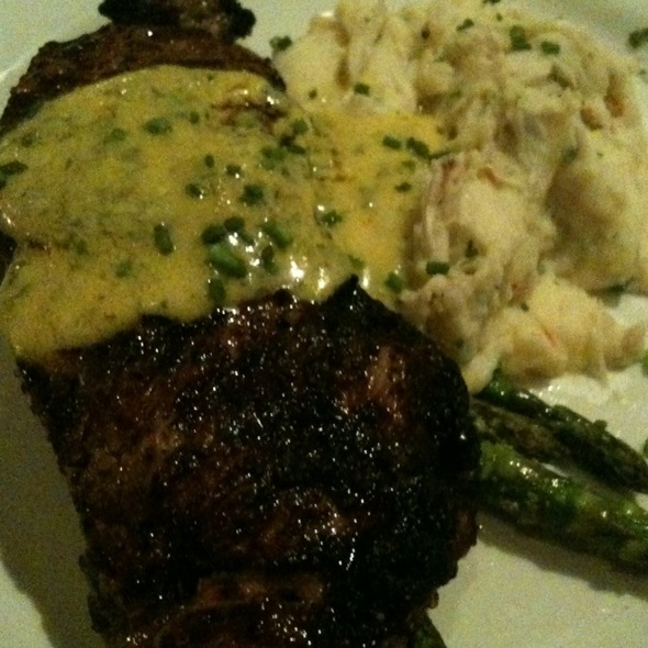 New York Steak Oscar With Crab Mashed Potatoes - Fiamma Grille, Plymouth, MI