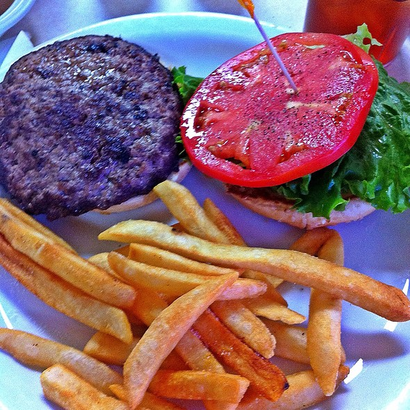 Burger with fries @ Dixie Grill & Steer Room