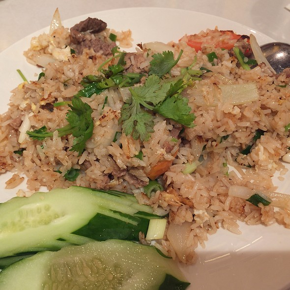 Thai Fried Rice with Beef @ Siam Garden Cafe