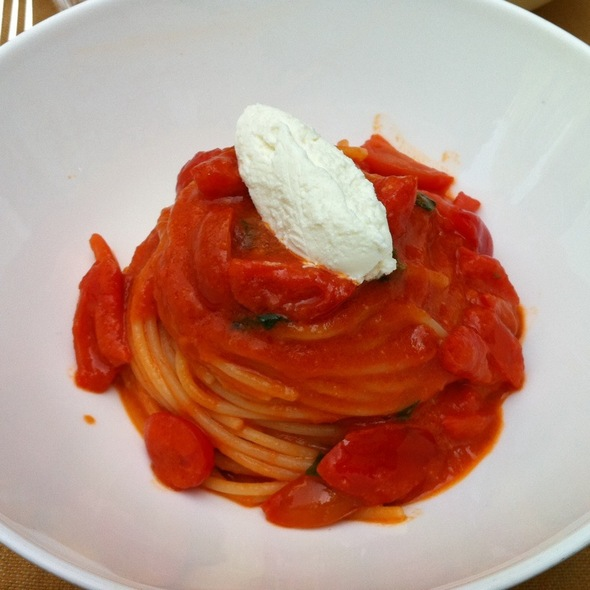 Spaghetti With Tomato Basil And Goat Cheese @ Bvlgari Hotel Milano