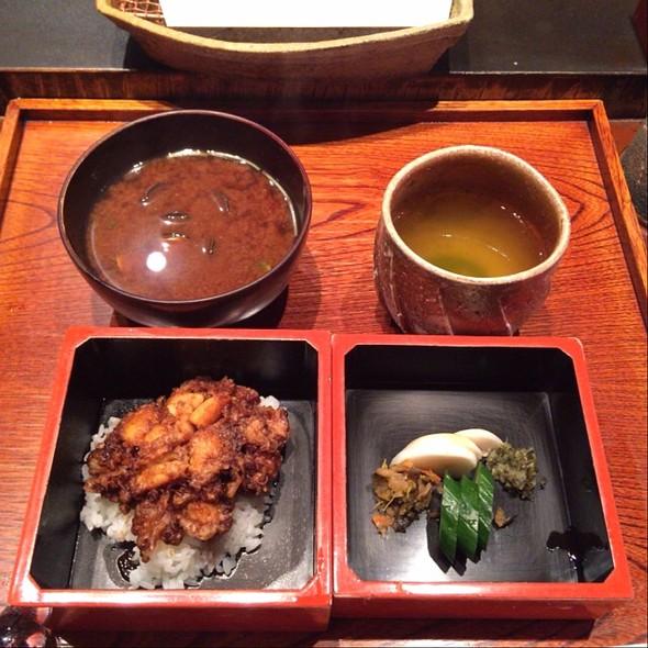 Tendon (tempura rice bowl) - みかわ 是山居, 江東区, 東京都