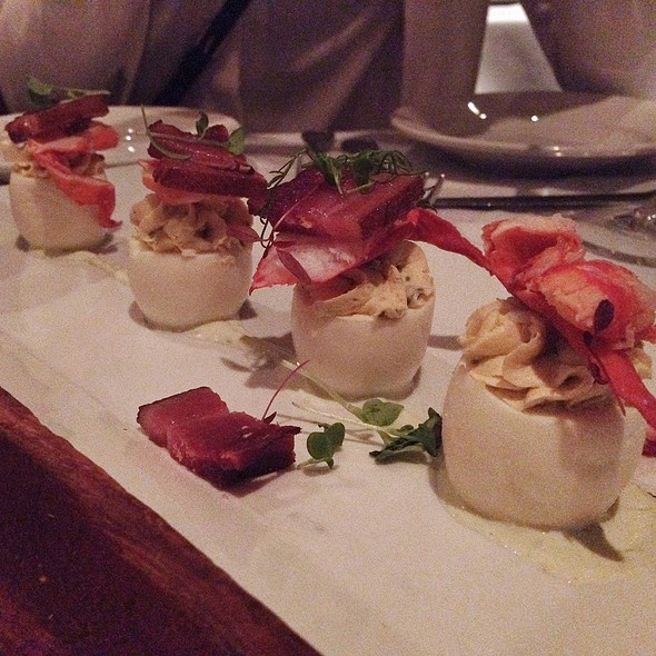 lobster deviled eggs @ Chamberlain's Steak and Chop House