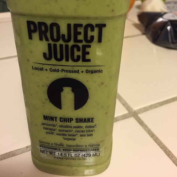 Mint Chip Shake @ Project Juice