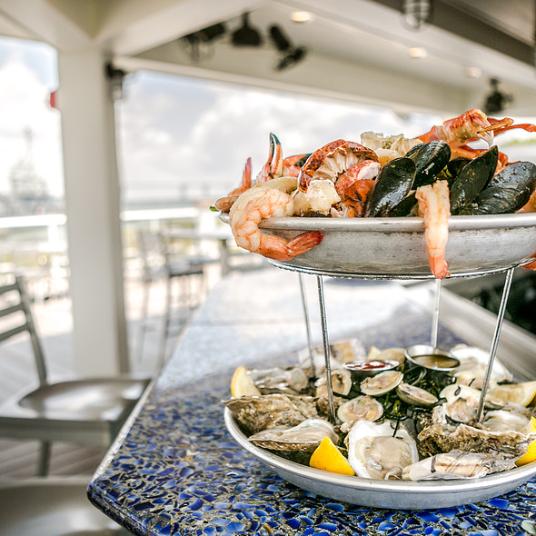 Seafood Tower - Charleston Harbor Fish House - Charleston Harbor Resort & Marina, Mount Pleasant, SC