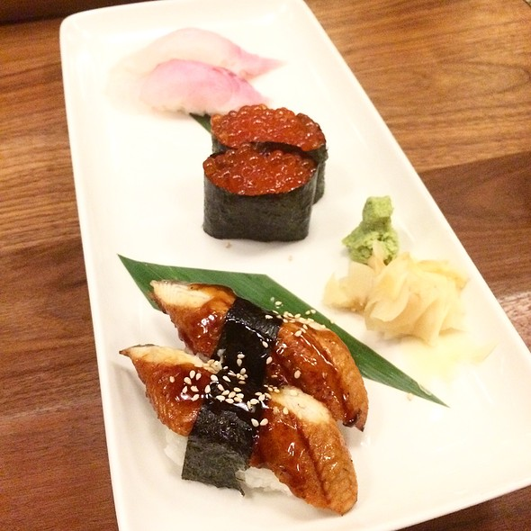 Unagi, Ikura, Shiromi Nigiri - Trace, Seattle, WA